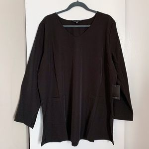 Eloquii 3/4 Sleeve Blouse with Pockets